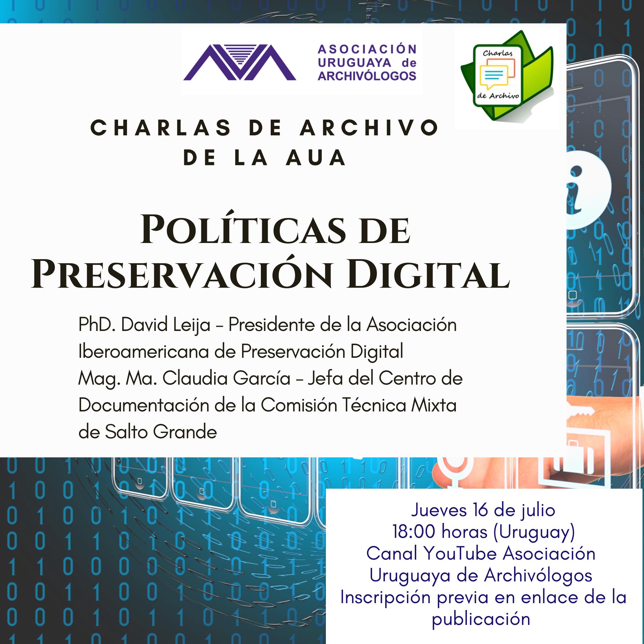 afiche políticas de preservación digital